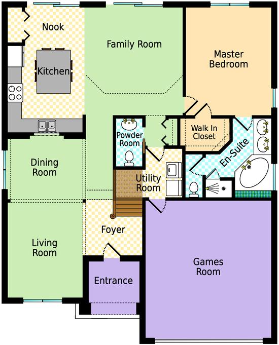 Emerald Island Orlando Villa Floor Plan